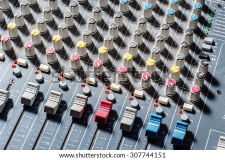 audio mixer - stock photo