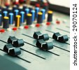 Audio mixer panel - stock photo