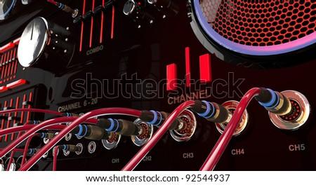 Audio Mixing - stock photo
