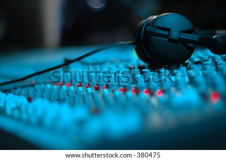 Audio Mixing Console - stock photo