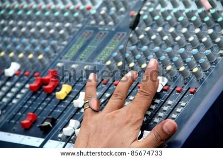 Audio Sound Mixing - stock photo