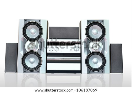 Audio sound system - stock photo