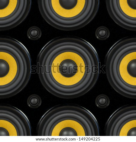 Audio Speaker Cone Detail Seamless Pattern Photo - stock photo