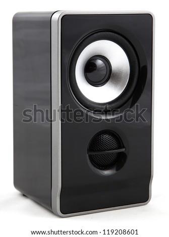 Audio speaker isolated on white background - stock photo