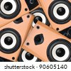 Audio speakers - stock photo