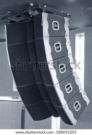 audio system - stock photo