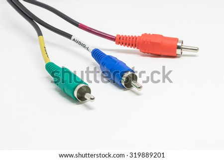 Audio Video Cable  - stock photo