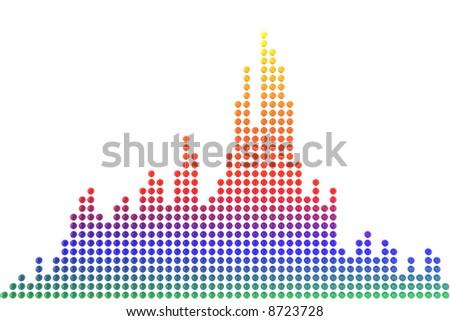 Audio waveform - stock photo