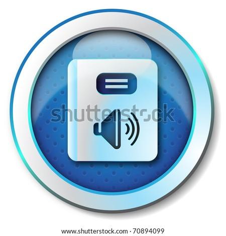 Audiobook icon - stock photo