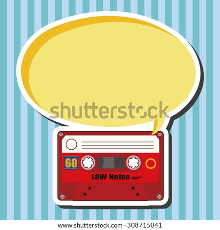 Audiotape, cartoon speech icon