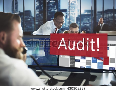 Audit Accounting Bookkeeping Assessment Evaluation Concept - stock photo
