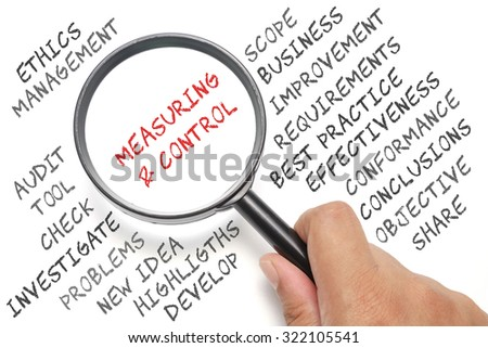Audit, business conceptual focusing on Measuring & Control - stock photo