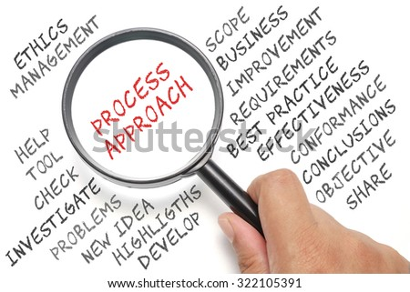 Audit, business conceptual focusing on Process Approach - stock photo