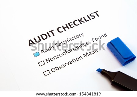 Audit checklist - stock photo