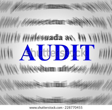 Audit Definition Showing Auditor Inspect And Explanation