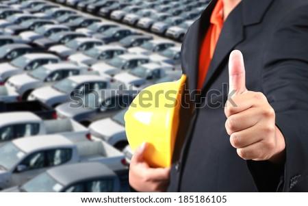 Audit shows appreciation storage auto storage yard. - stock photo