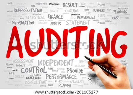 AUDITING word cloud, business concept - stock photo