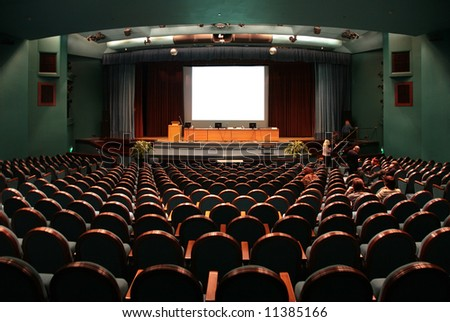 auditorium - stock photo