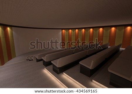 auditorium hall waiting 3D interior render