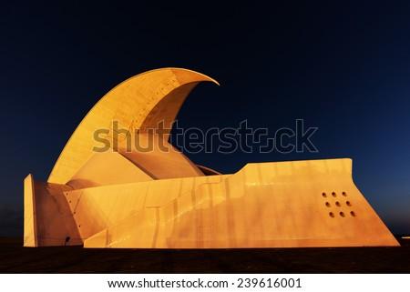 Auditorium in Tenerife in Canary Islands, Spain, Europe  - stock photo