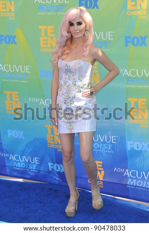 Audrey Kitching at the 2011 Teen Choice Awards at the Gibson Amphitheatre, Universal Studios, Hollywood. August 7, 2011  Los Angeles, CA Picture: Paul Smith / Featureflash