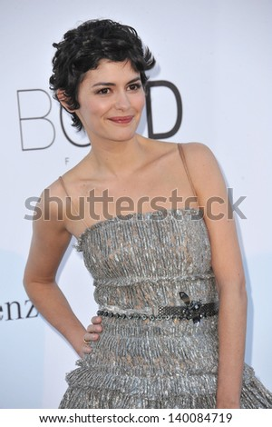 Audrey Tautou at amfAR's 20th Cinema Against AIDS Gala at the Hotel du Cap d'Antibes, France May 23, 2013  Antibes, France - stock photo