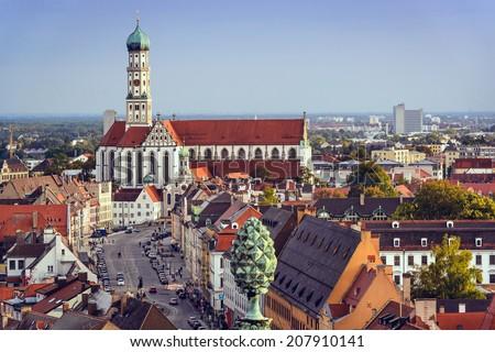 Augsburg, Germany skyline. - stock photo