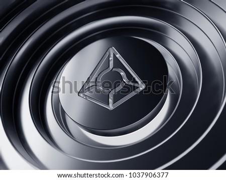 Augur Symbol Center Silver Circles 3 D Stock Illustration 1037906377