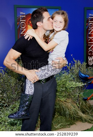 """August 27, 2011. Antonio Sabato Jr at the World premiere of """"The Lion King 3D"""" held at the El Capitan Theater, Los Angeles.  - stock photo"""