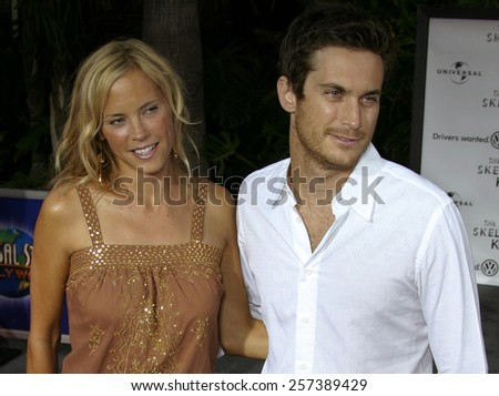 "August 2, 2005.  Erinn Bartlett and Oliver Hudson at the ""The Skeleton Key"" Los Angeles Premiere at the Universal Studios Cinema in Hollywood, California. - stock photo"