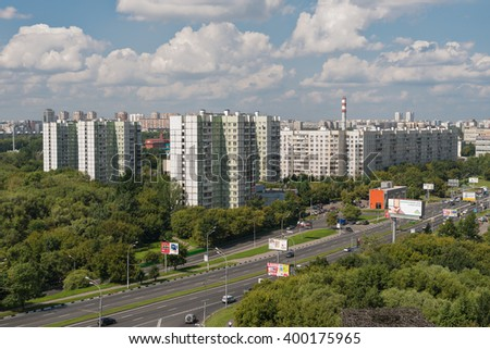 August 9, 2013: Foto of Moscow region Vladikino and Otradnoe. Russia