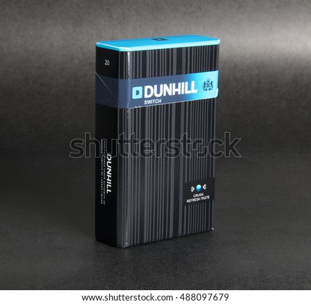 August 2016, Lahore: Promotional Dunhill Cigarettes Packaging