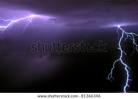 August Lightning - stock photo