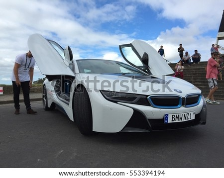 Aukland, New Zealand: 9 January,2015: BMW Supercar Modern Auto Design.