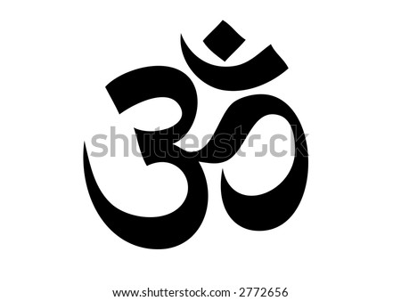 Aum Om - a sacred and holy symbol from eastern religions