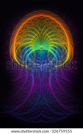 Aura abstract illustration - stock photo