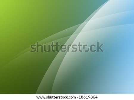 Aurora style wallpaper of green and blue tones - stock photo