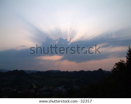 aurora (the first light of day) - stock photo