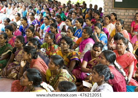 AUROVILLE, INDIA - August 20, 2016: The Bioregional Women's Festival by The Auroville Action Group