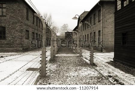 Auschwitz-Birkenau camp, Poland - stock photo