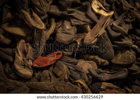 Auschwitz,inside - stock photo