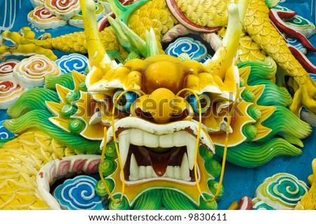 auspicious feng sui dragon - stock photo