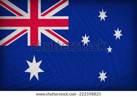 Austaria flag pattern on the fabric texture ,retro vintage style - stock photo