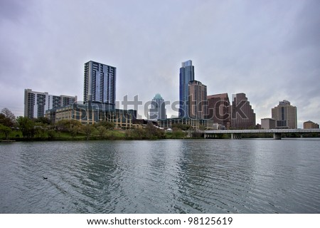 Austin Downtown view - stock photo