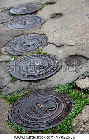 Austin Drainage - stock photo