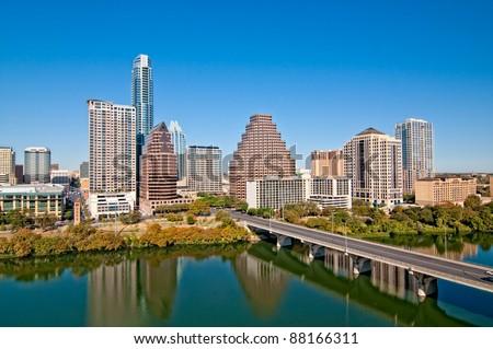 Austin, Texas Downtown Skyline - stock photo