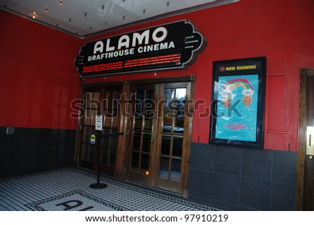 AUSTIN, TEXAS - MAR 9: SXSW 2012 on March 9, 2012 in Austin, Texas. Alamo Drafthouse cinema theater was major screening place for new movies. - stock photo