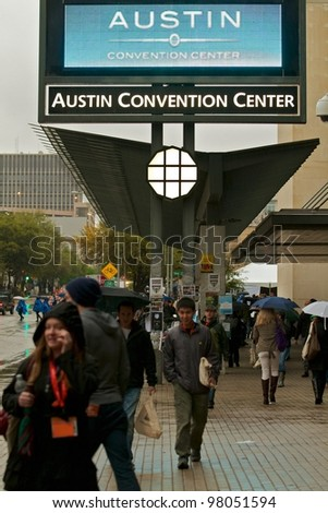 AUSTIN, TX - MAR 9: SXSWi 2012. SXSW Interactive Conference on March 9, 2012 in Austin, Texas. Austin Convention Center