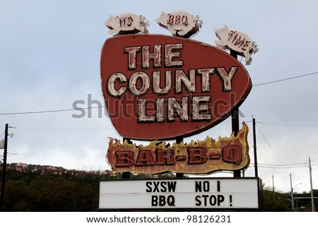 Austin, TX - March 12: SXSW Interactive Conference in Austin. BBQ is very popular during the conference. - stock photo