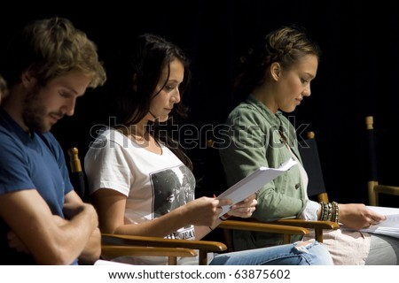 AUSTIN,TX - OCTOBER 24:  Actress Alexa Vega and Jessica Alba read the ' The Hand Job ' Script at the Rollins Theatre during the 17th Annual Austin Film Festival on October 24, 2010 in Austin, TX. - stock photo